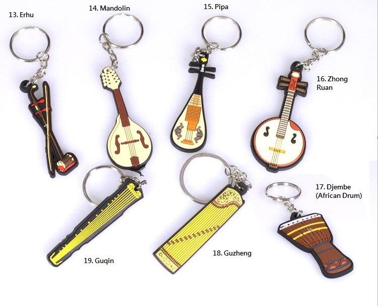 Mbledhja Instrumente Muzikore Souvenir IM, Guitar Keychain, Ukulele, - Instrumente muzikore - Foto 4