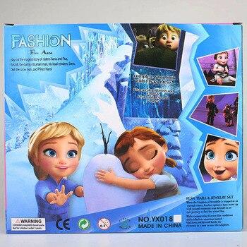 2017 2pcs Princess Anna Elsa Dolls For Girls Toys Princess Anna Elsa Dolls For Girls Toys 16cm Small Plastic Baby Dolls Congelad 8