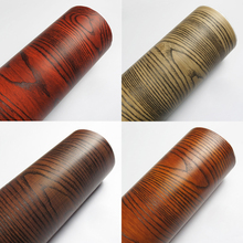 Rainqueen Wood Grain Wallpaper Rolls Vinyl Contact Paper Self Adhesive Wall Stickers Film Bedroom Wardrobes Furniture Decoration