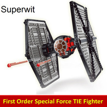 Superwit 10465 Lepin 05005 Star Wars Special Force TIE Fighter Model Building Blocks Bricks Compatible 75101