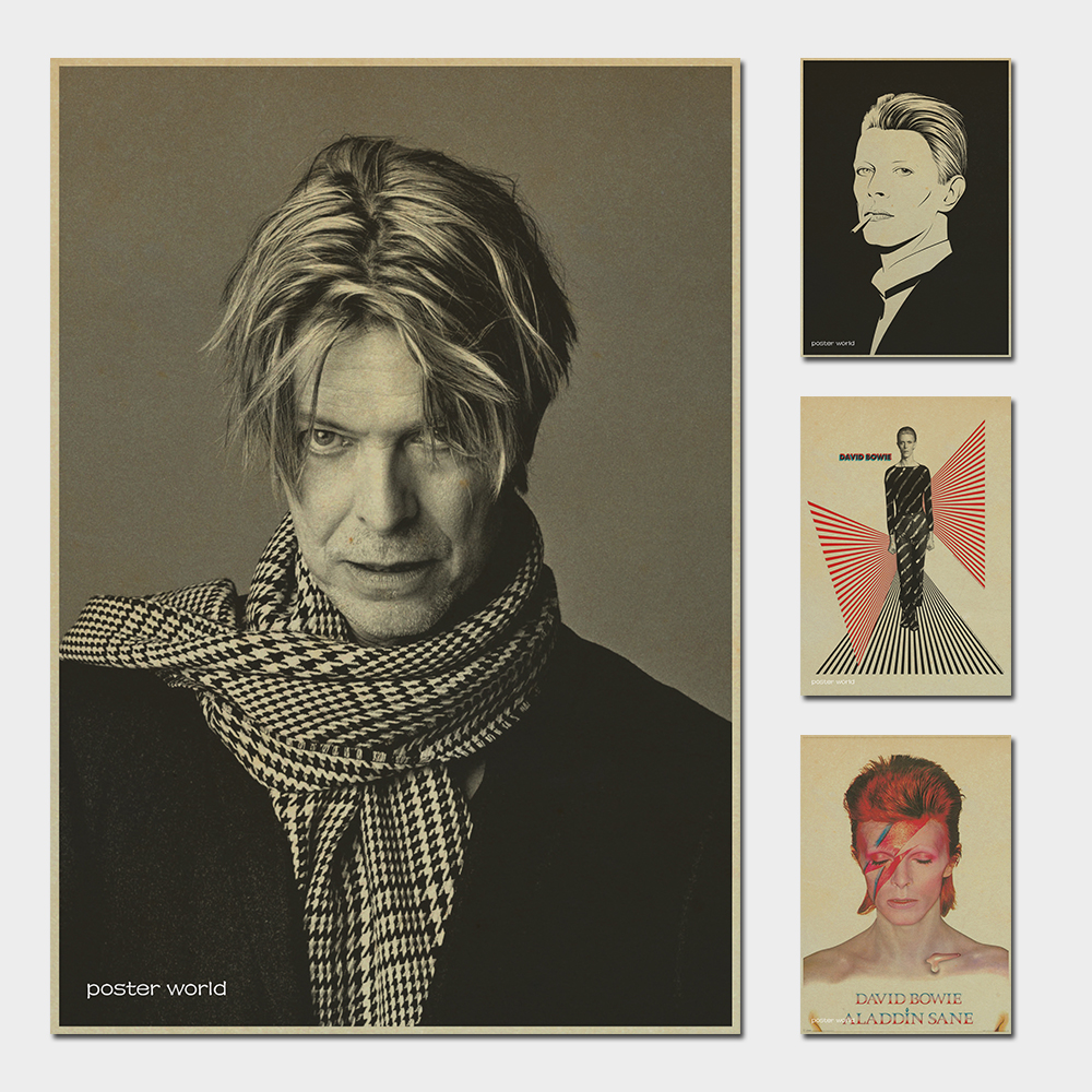 Ancient Murals David Bowie Rock Poster Decoration Painting Core Manga Pictures Kraft Paper Sticker Printed Draw Hanging Picture
