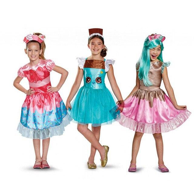 aebd1f3ddbbc Girl kid halloween cosplay party Fairy tale fruit princess dress ...