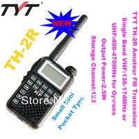 Nhỏ Pocket Kích ham nhỏ Two Way Radio TYT TH-2R Độc Band VHF: 136-174 MHz/UHF: 400-470 MHz TYT nhỏ walkie talkie Freeshipping