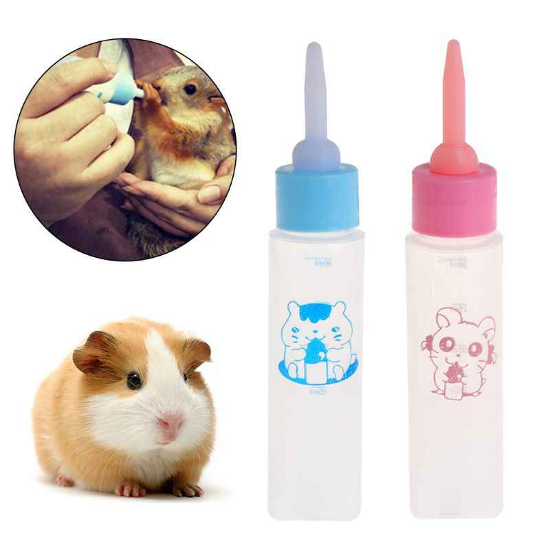 Pet Milk Bottle 30ml Silicone Nipple Small Animal Feeding Water Hamster Squirrel
