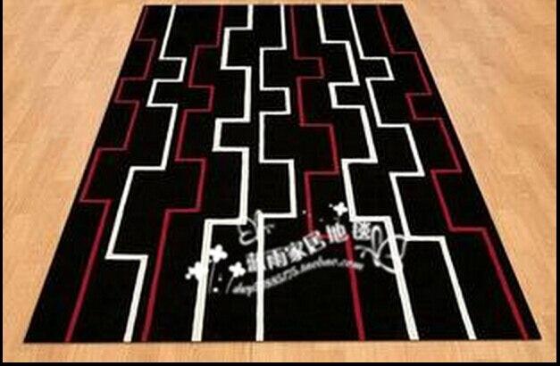 Mode abstraite brève épaississement noir et blanc tapis tapis salon table basse tapis personnaliser