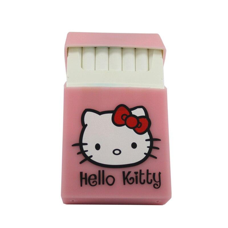Hello kitty black silicone rubber cigarette case cover smoking romantic pink Hellokitty soft cigarette box girls gift
