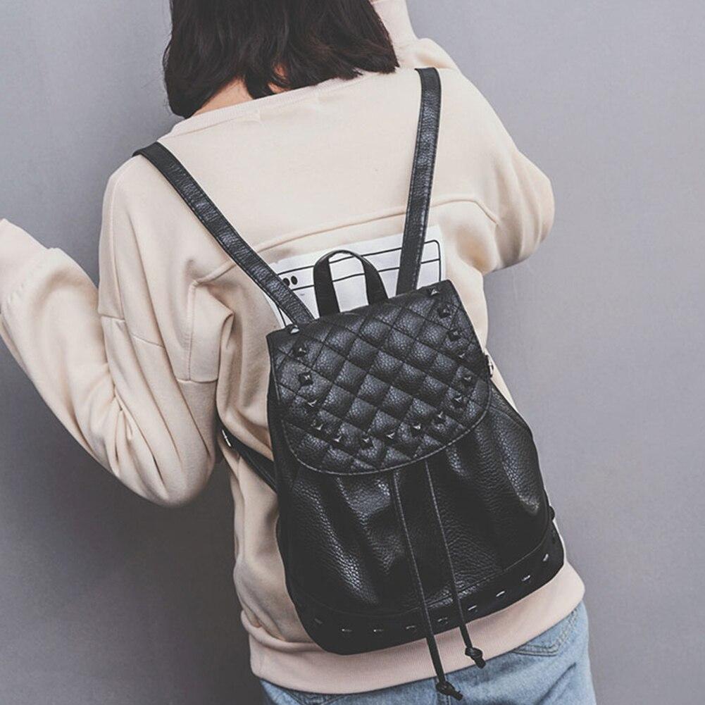 1d7b82c6331b Fashion Backpack Rivet New Travel Bag Pu Backpack For Women School Student Teenage  Girl Mochila Escolar Women Backpack Rucksack - TakoFashion - Women s ...