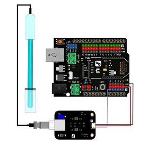 Módulo do sensor de ph v1.1 + sonda ph avr teste código módulos kit para a aquicultura mal999