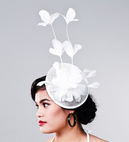 Multiple Color Elegant Ladies Sinamay Fascinator Headwear Feather Party Show Hair Accessories Millinery Cocktail Hats Headpieces