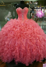 Bealegantom New Swettheart Crystals Ball Gown Quinceanera Dresses 2019 Beaded Lace Up For 15 Years Vestidos De Anos QA1431