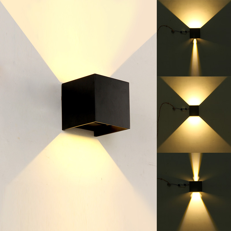 LED Outdoor Wall Sconce Porch Up Down Light Fixtures ... on Modern Outdoor Sconce Lights id=24659