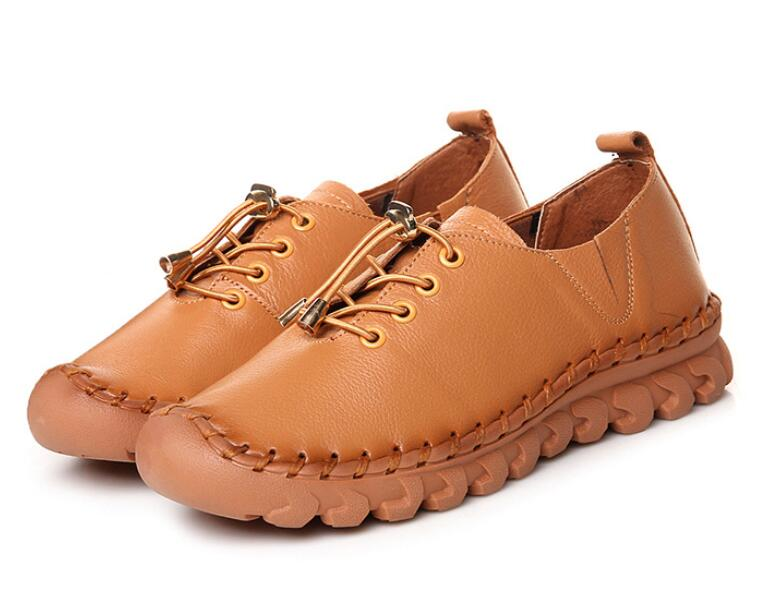 SunNY Everest women shoes cow leather  flats mother soft sole rubber lace up untiskid 36-40 fashion baby flats tassel soft sole cow leather shoes infant boy girl flats toddler moccasin 17mar20