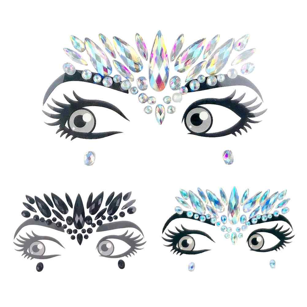Festival Face Stickers Makeup Easy To Operate Face Gems Rhinestone  Temporary Tattoo Diy Face Stickers Party fd07826b24a6