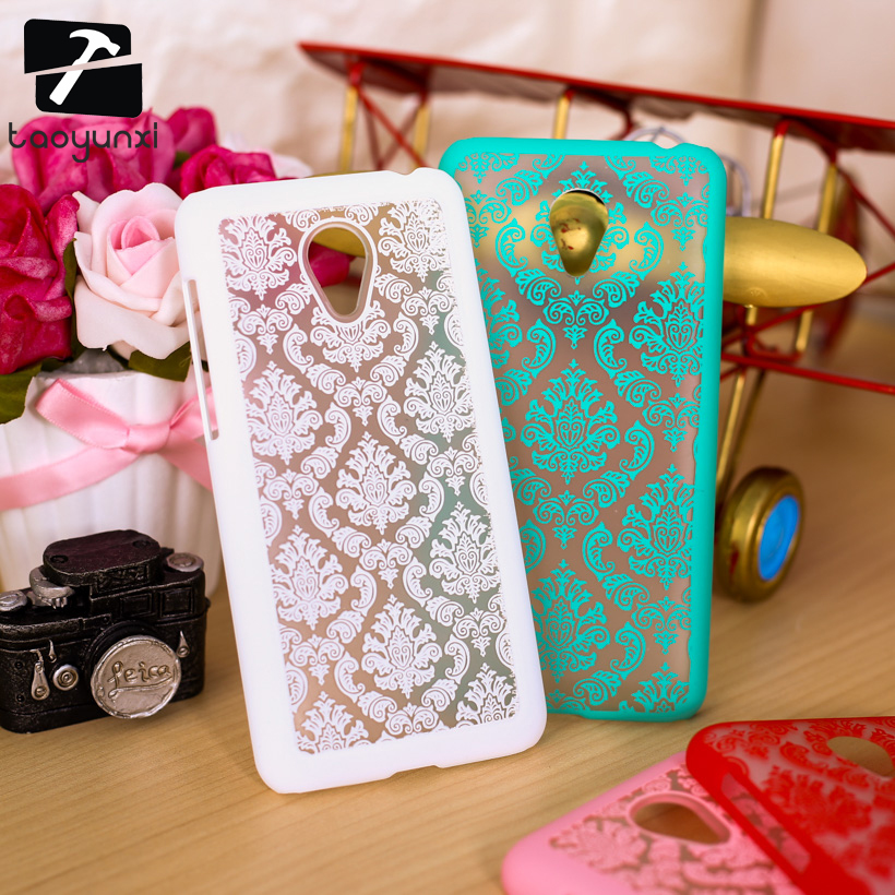 TAOYUNXI Hard Plastic Phone Case For Meizu M2 Mini Meilan 2 Dual SIM 4G LTE 5 Cover Palace Paper Cut Flower Phone Accessories