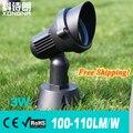 Бесплатная Доставка AC85 ~ 265 В 3 Вт СВЕТОДИОДНЫЙ прожектор RGB LED Наружного Освещения, водонепроницаемый IP65, 100 ~ 110 лм/Вт, CE & RoHS, 2 Года Гарантии