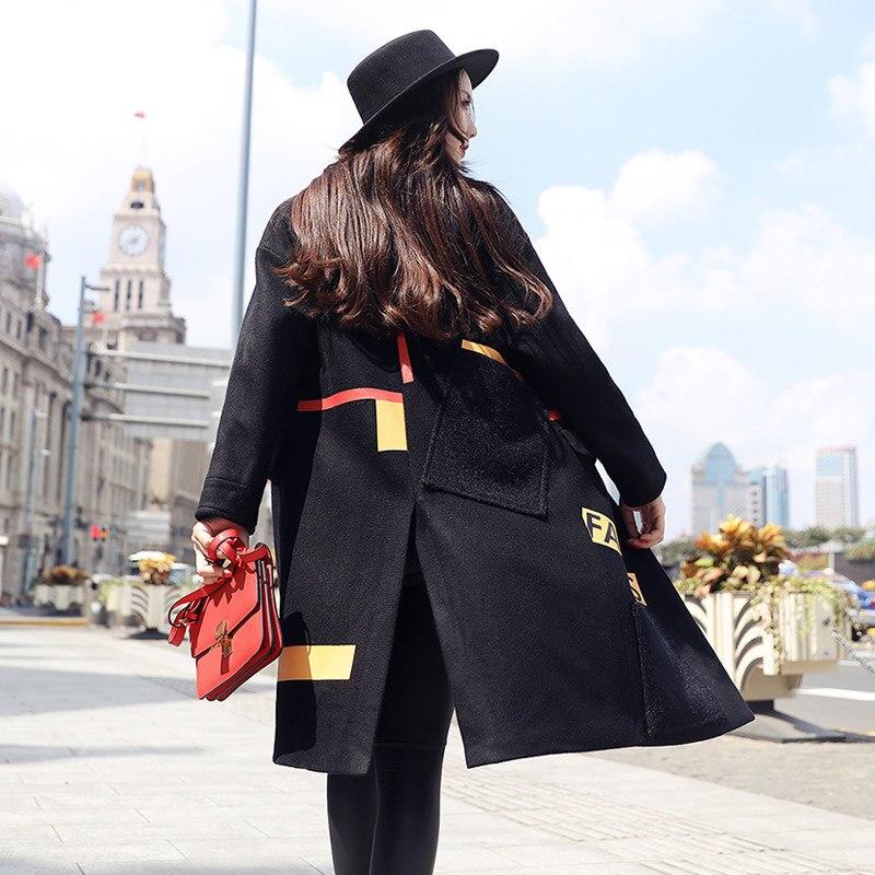 Et Black Dans La Automne Laine Femmes camel Nouvelle D'hiver De Longue Section Hiver Manteau Épais Détendue 2016 Étudiants Coréenne wqPtpTxg