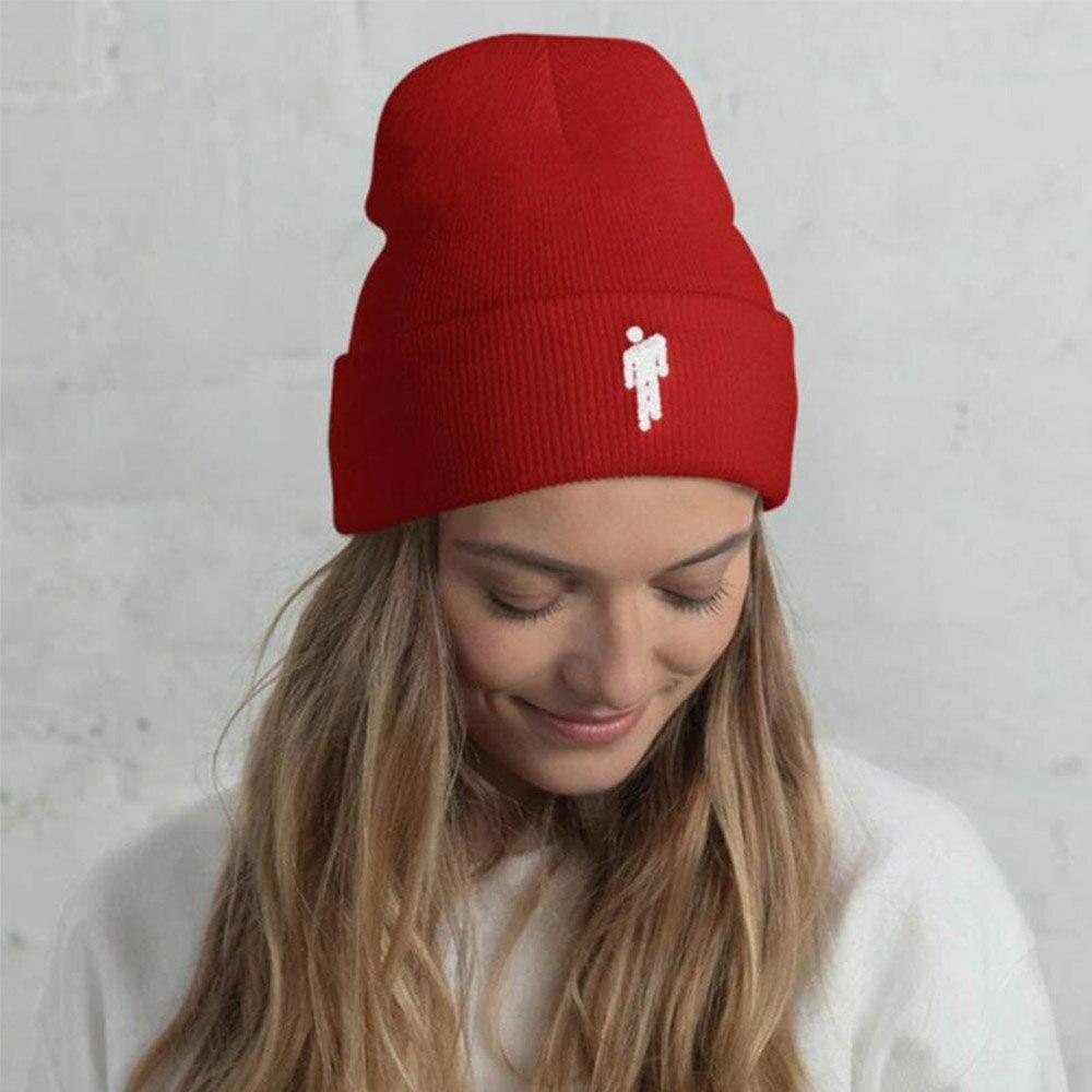 Le Jeune moderne.Automne - Hiver-Bonnet tendance tricoté unisexe avec logo 12 couleurs-Bonnet coton / acrylique. 12 couleurs au choix, taille unique et unisex.