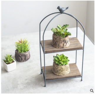 Stand, And, Shelf, Flower, Plan, Pot