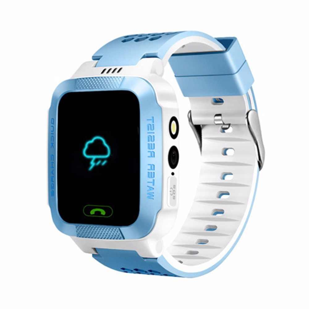 Y21S 1.4 Inch Colorful Screen Smart Wrist Watch Phone Anti-lost Children GPS Tracker SOS Call Camera Flashlight For Android
