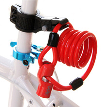 Strong Security Bicycle Lock Anti-theft MTB Safe Alloy Cable Wire Padlock Folding Locks with 2 Keys Anti-cut Bike Accessories