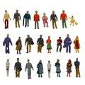 24 Застрял Красочная Роспись Песок Стол Модель Железнодорожных Пассажирских Цифры Шкале от 1 до 87