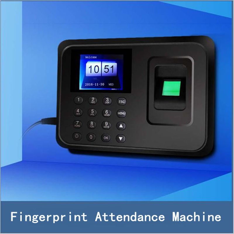 16*16mm F-18C TFT HD Color Screen Fingerprint Attendance Machine for Door Lock Home Security System, Free Shipping biometric face and fingerprint access controller tcp ip zk multibio700 facial time attendance and door security control system