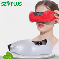 Myopia Relief SPA 3D Green Light Eye Massager Electric recharge Eye USB Fatigue Relieve Head Stress Relief Care Magnet Therapy