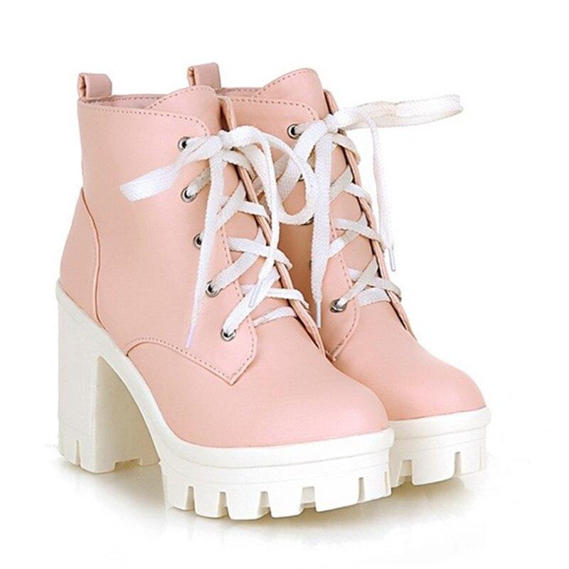 b3761d01a87a MORAZORA 2018 New Fashion sexy women s ankle boots lace up high heels Punk  platform Women autumn. sku  32323371818