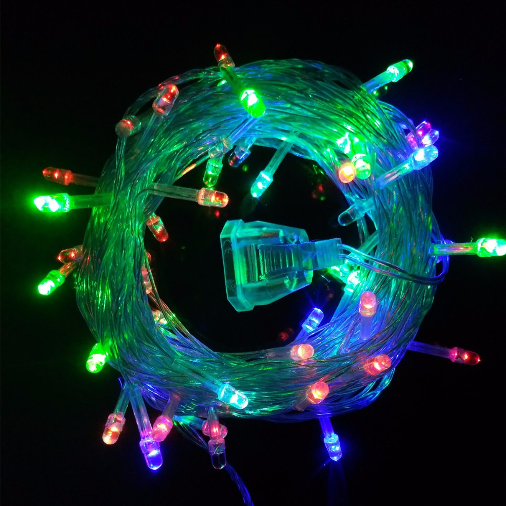 2pcslot 10m 50 leds led string lights fairy christmas lights outdoor for christmas tree