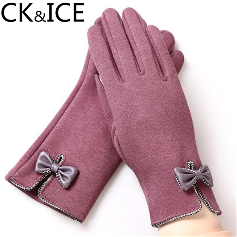 CK&ICE Winter Women Gloves Mittens Warm Cashmere Guantes Mujer Little Dot Point Burr Outdoor Thicken Anti-Cold Female Gloves