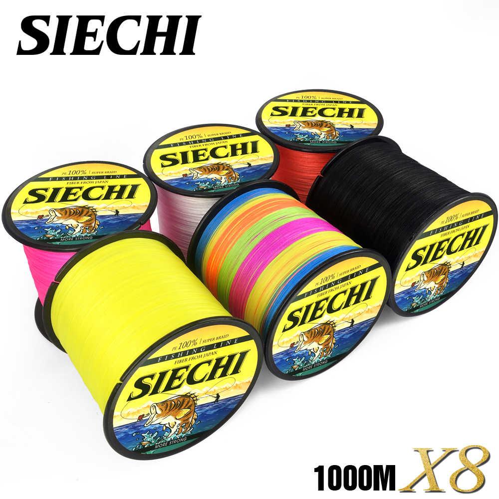 SIECHI 8 fili 1000M 500M 300M PE lenza intrecciata tresse peche pesca in acqua salata tessuto superiore estremo Super forte