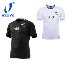 acaa69a5d1 RESYO for New 2019 Super New Zealand All Blacks Men's RUBGY JERSEYS Rugby  shirt