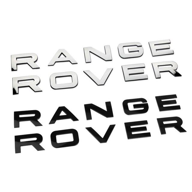 10 Set 3d Abs Hohe Qualität Für Range Rover Buchstaben Auto Front Hood Emblem Abzeichen Hinten Trunk Aufkleber Styling Auto Zubehör