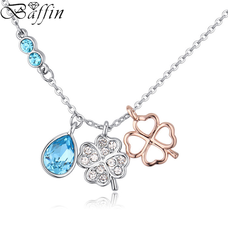 Baffin Fashion Crystal Clover Necklaces&Pendants For Women Party Wedding Jewelry Maxi Choker Made With Swarovski Elements baffin crystal aurore boreale page 2