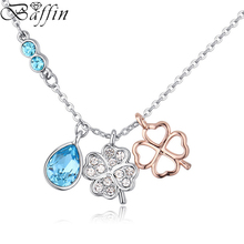 Baffin Fashion Crystal Clover Necklaces&Pendants For Women Party Wedding Jewelry Maxi Choker Made With Swarovski Elements