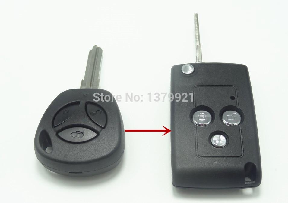 Prix pour Carénage à distance shell key case fob pour LADA clé Granta Largus 4X4 Kalina Priora carénage clé shell