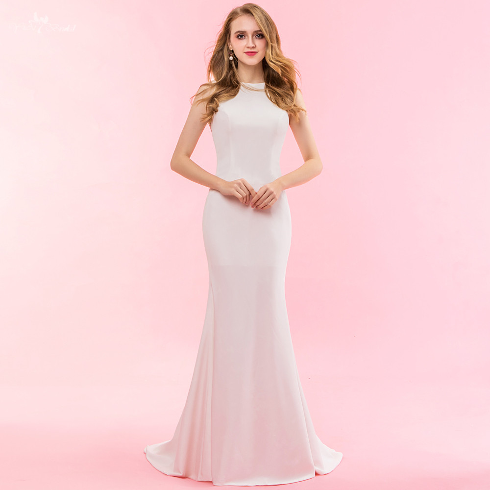 Real Mermaid Wedding Dresses 2017 Beading V Neck Sexy Wedding Gowns ...