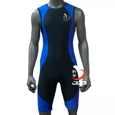 JOB Mens one piece swimwear competitive swimming  triathlon suit men competition swimsuit knee boys Tri swim suit