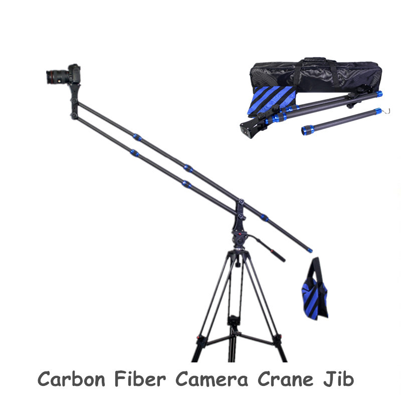Carbon Fiber Mini Jib Crane Portable Pro DSLR Video Camera Crane Jib Arm Standard Version+Bag professional dv camera crane jib 3m 6m 19 ft square for video camera filming with 2 axis motorized head