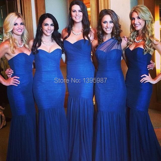 Robes De demoiselle d'honneur bleu Royal robes mi-d'honneur De Festa 2015 nouveauté Designer élégant Sexy fabuleux robes formelles XA023