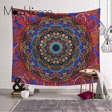 Red Large Mandala Tapestry Home Art Wall Decor Indian Wall Hanging Bohemian Beach Towel Polyester Thin Blanket Yoga Shawl Mat