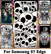Cool Skull Pattern Phone Cases For Samsung Galaxy S7 Edge G935A Hard Plastic and Silicon Wholesale Multi Styles Cover Skin Shell