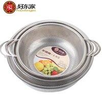 Haodongjia coador coador de Aço Inoxidável Lavar Peneira Arroz cesta de Frutas Vegetal mesh filtros pia Da Cozinha Gadgets