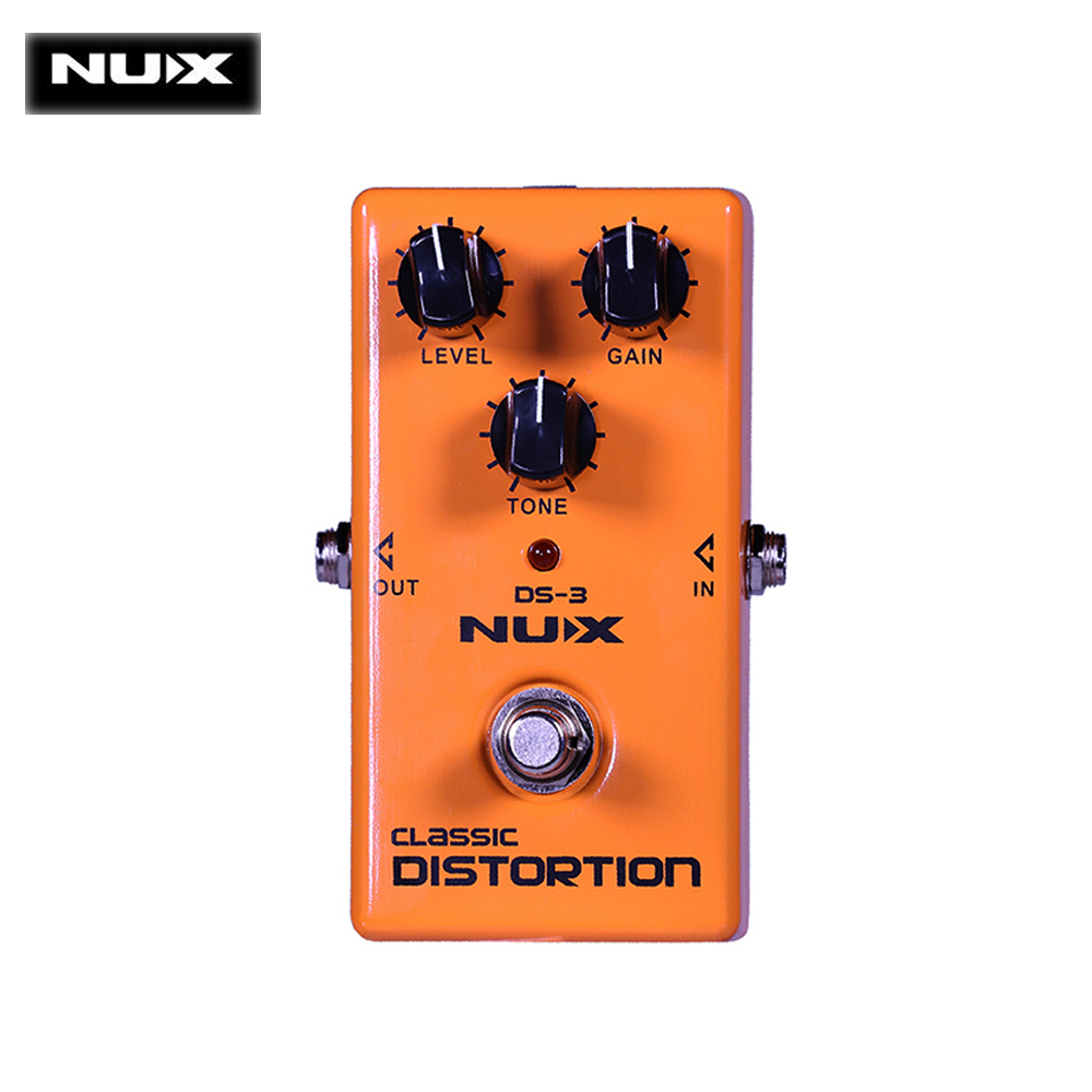 NUX DS-3 Amplifier Simulator Guitar Effect Pedal l True Bypass Sound Aluminum Alloy Housing Durable Guitar Parts Accessories nux metal core distortion stomp boxes electric guitar bass dsp effect pedal 2 metal hardcore sound true bypass