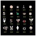 100 unids/lote Aleación Mixta Joyería Multicolor Glitter Gems Decoración Grado AAA Rhinestone 3D Nail Art Stickers Beeds para Uñas de Gel