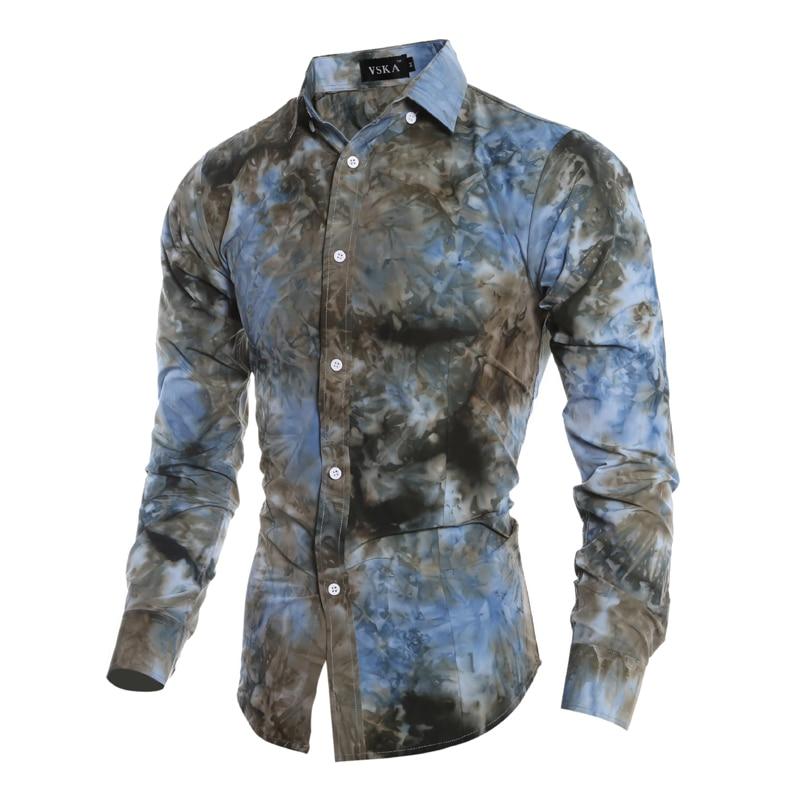 Camisa para hombre 2016 Camisas de Moda Estampado de