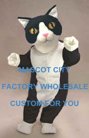 Black and White Cat Mascot Costume Cartoon Character Adult Size Theme Carnival Party Cosply Mascotte Outfit Suit SW970