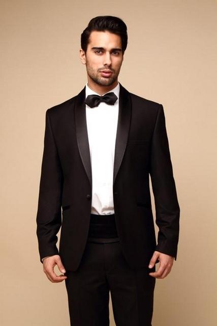 2017 Trajes para Hombre Baratos 2 Unidades Ocasión Formal Trajes Mejor Hombre Trajes de Boda Del Novio Esmoquin (chaqueta + Pantalones) Wedding Party Prom