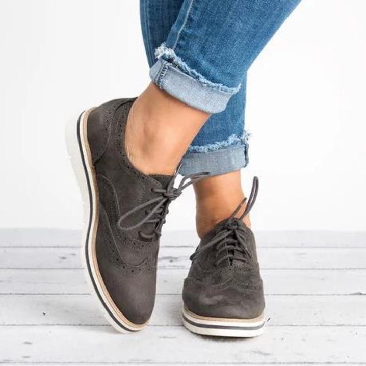 Malla Plataforma Gran 2018 Brock Encaje luz Zapatos Negro Amarilla naranja Plano Otoño Primavera Tamaño Cómoda gris Mujer blanco De Y r0q0XvwO