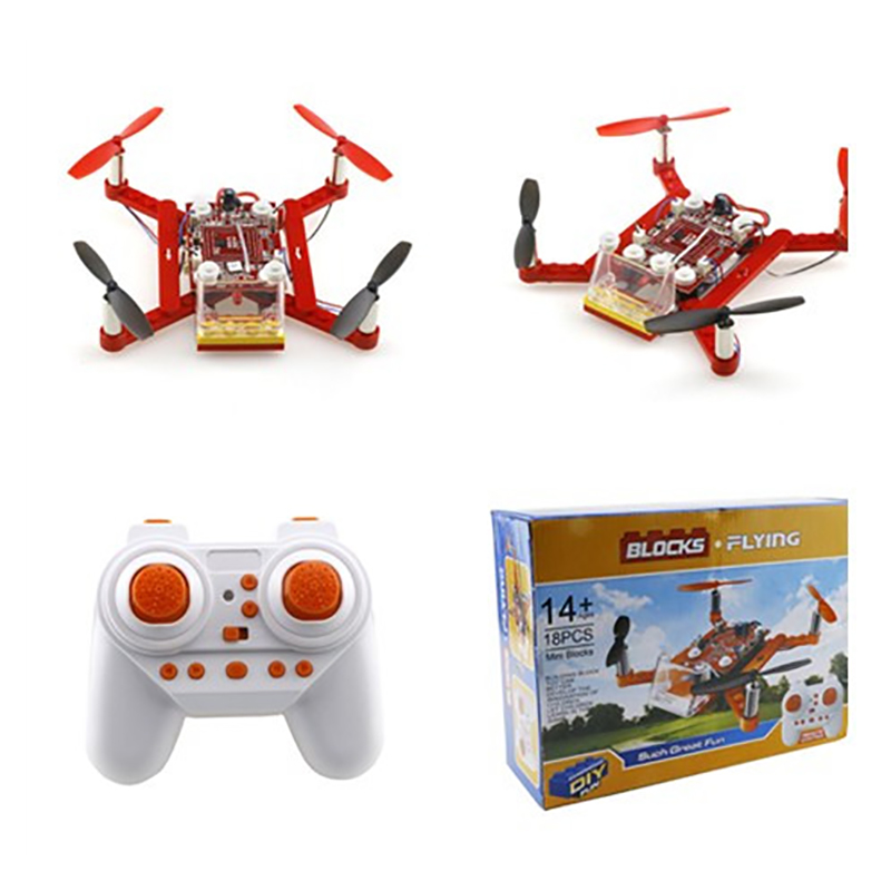 Building Block Quadcopter 3d Diy Bricks Mini Drones Diy Toys For Kids Rc Assembled Model Drone Building Kits Educational micro mini tesla coil with a beautiful head diy kits for kids diy toys